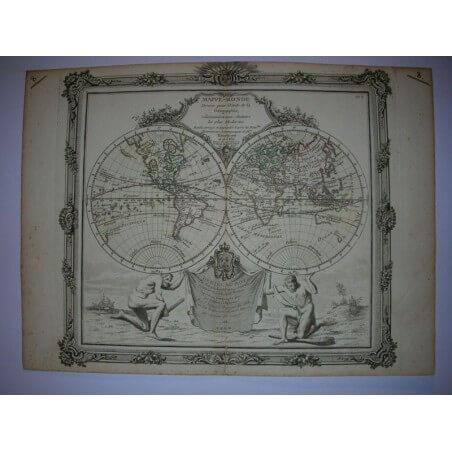Mappemonde DESNOS 1766