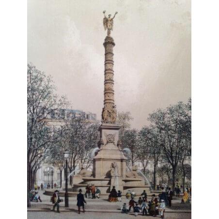 Paris dans sa splendeur, Fontaine et place du Chatelêt.