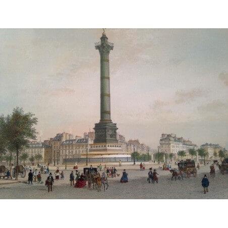 Paris dans sa splendeur, place de la Bastille.