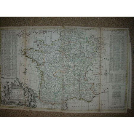 A new and exact map of France hermann Moll