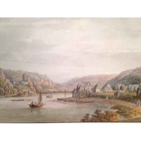 Vue d' ASTMANNHAUSEN avec le chateau de Bauzberg et de Falkenbourg