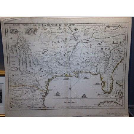 Partie meridionale de la riviere mississipi n de Fer 1718