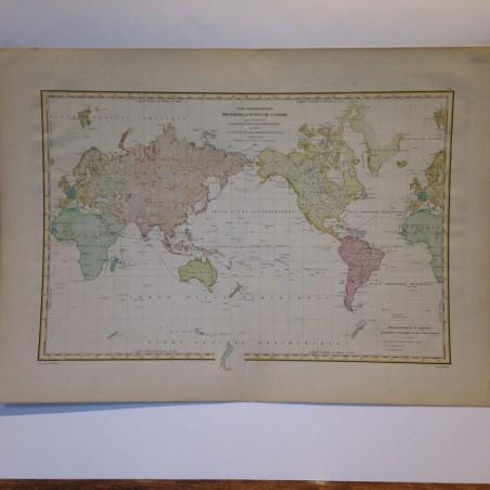 Carte Hydraugraphique des parties connues de la terre