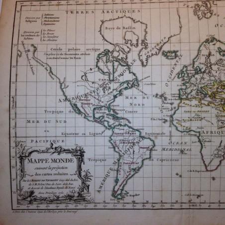Mappemonde Robert de VAUGONDY1762