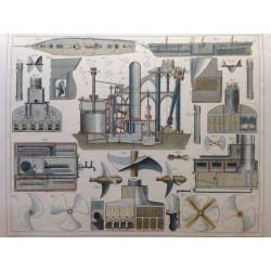 Marine, details de machinerie