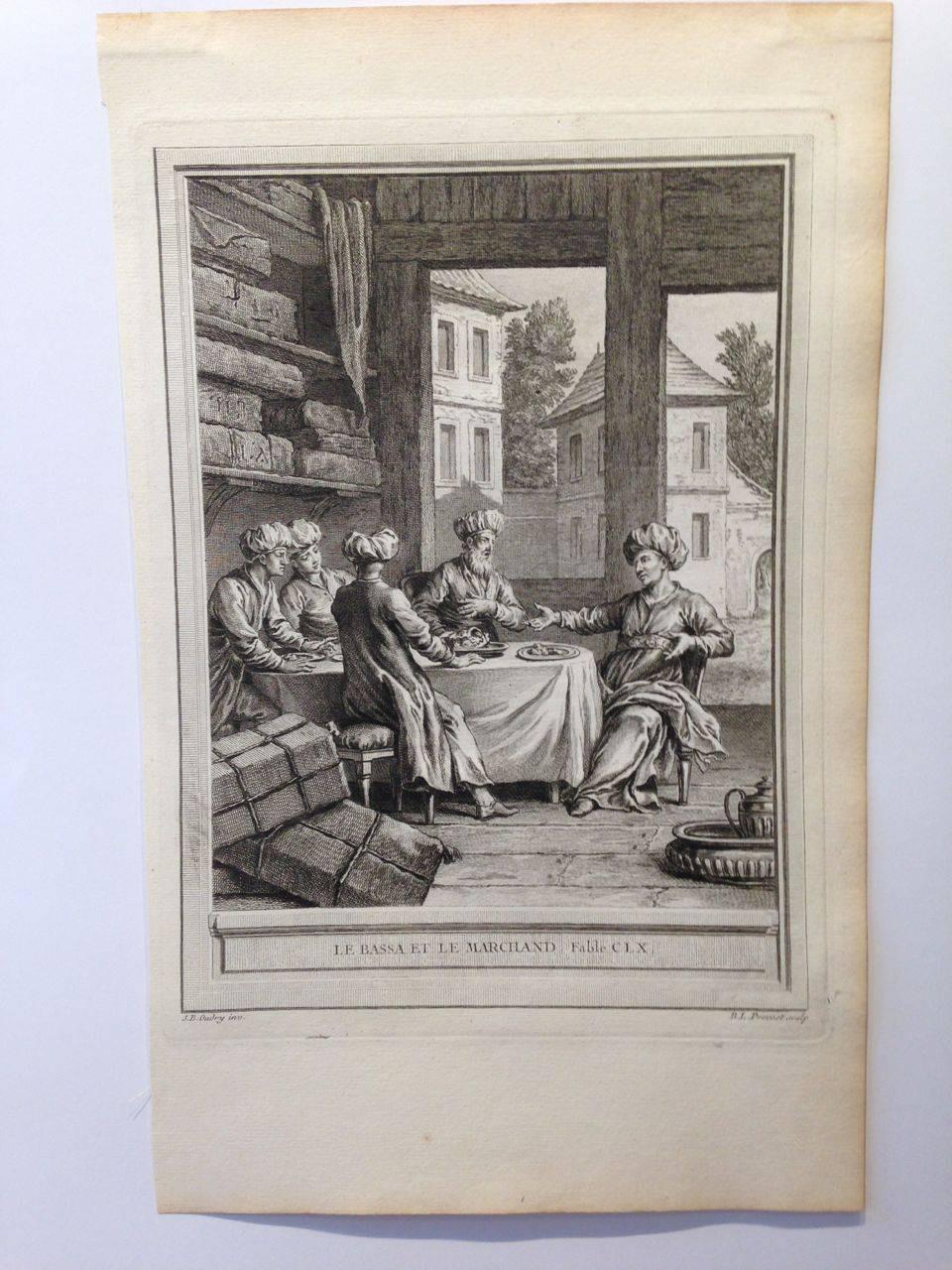 Oudry fables de la fontaine 1755 estampes anciennes for Garage martinez pernes les fontaines