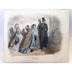 Gustave DORE, la menagerie Parisienne 1861, chouettes