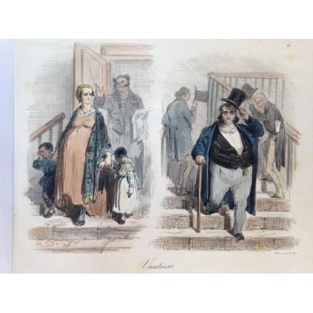 Gustave DORE, la menagerie Parisienne 1861, Vautours