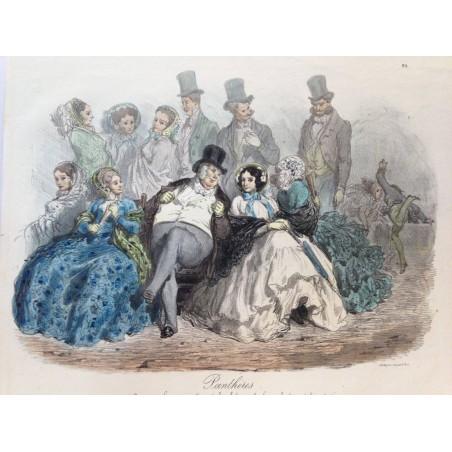 Gustave DORE, la menagerie Parisienne 1861, Panthères