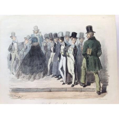 Gustave DORE, la menagerie Parisienne 1861, Petits lions, lions adultes