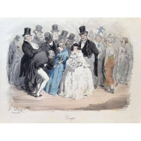Gustave DORE, la menagerie Parisienne 1861, Loups