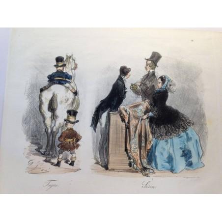 Gustave DORE, la menagerie Parisienne 1861, Tigre, Serin