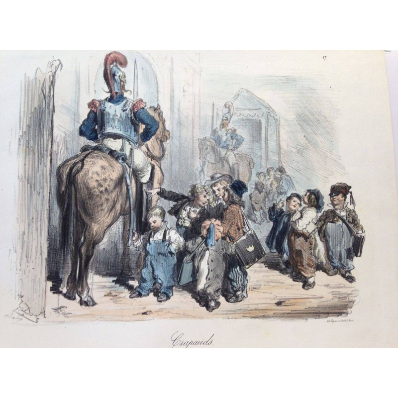 Gustave DORE, la menagerie Parisienne 1861, Crapauds