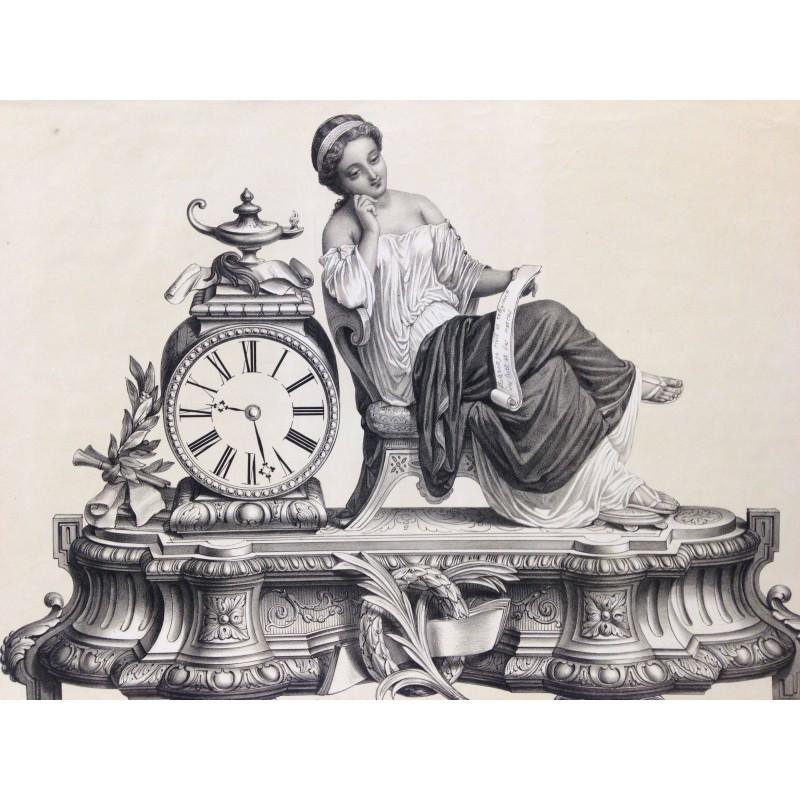 Horloge, la liseuse