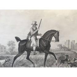 Carle VERNET, DEBUCOURT départ et retour du chasseur