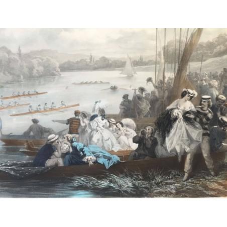 Les plaisirs de PARIS, régate à Asnières