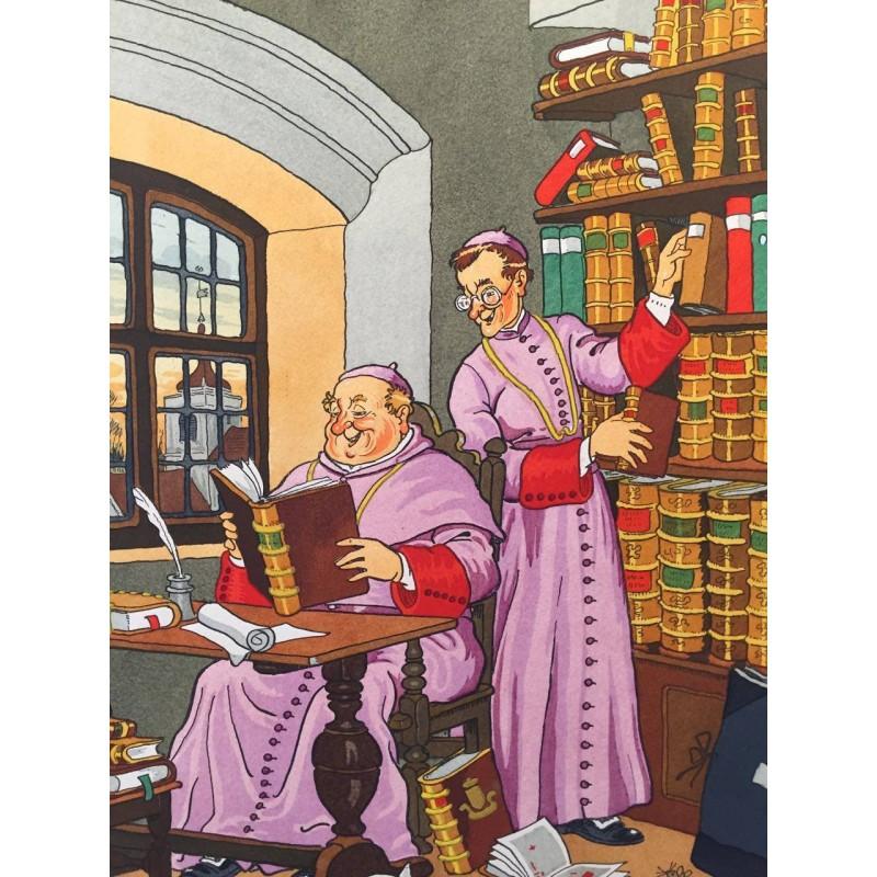 Harry ELIOTT, les moines à la bibliothèque