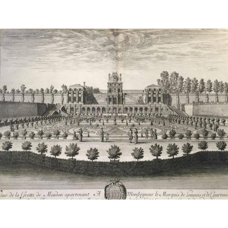 Israel SYLVESTRE, la grotte de MEUDON, 1680