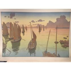 Henri RIVIERE, le coucher de soleil, 1898