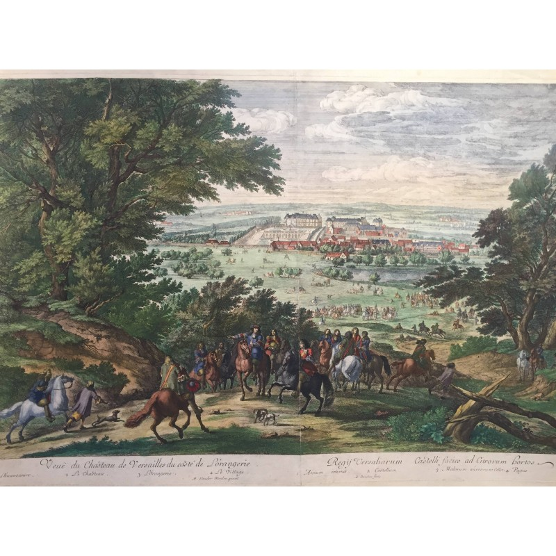 Vue du chateau de Versailles du coté de L'Orangerie