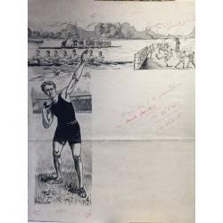 Projet Affiche sportive 1930, PERRETTE