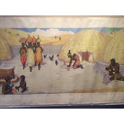 JJ MIDDERIGH (1877-?) Village Africain