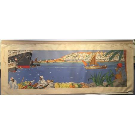 JJ MIDDERIGH (1877-?) Le port d'Alger