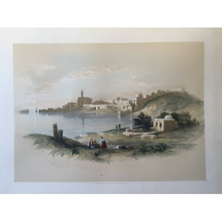 David ROBERTS, Lithographie Originale, Nubie, Egypte, Syrie,...
