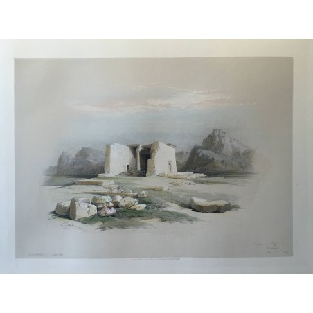 David ROBERTS, Lithographie Originale, Nubie, Egypt, Syrie, P