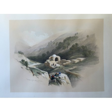 David ROBERTS, Lithographie Originale, Nubie, Egypte, Syrie.