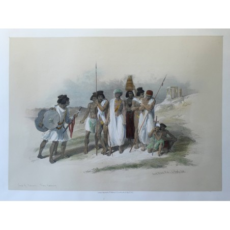 David ROBERTS, Lithographie Originale, Nubie, Egypte,  Syrie,.