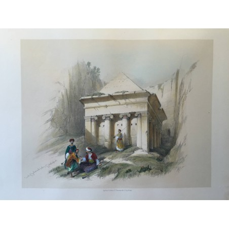 David ROBERTS, Lithographie Originale, Nubie, Egypte, Syrie,