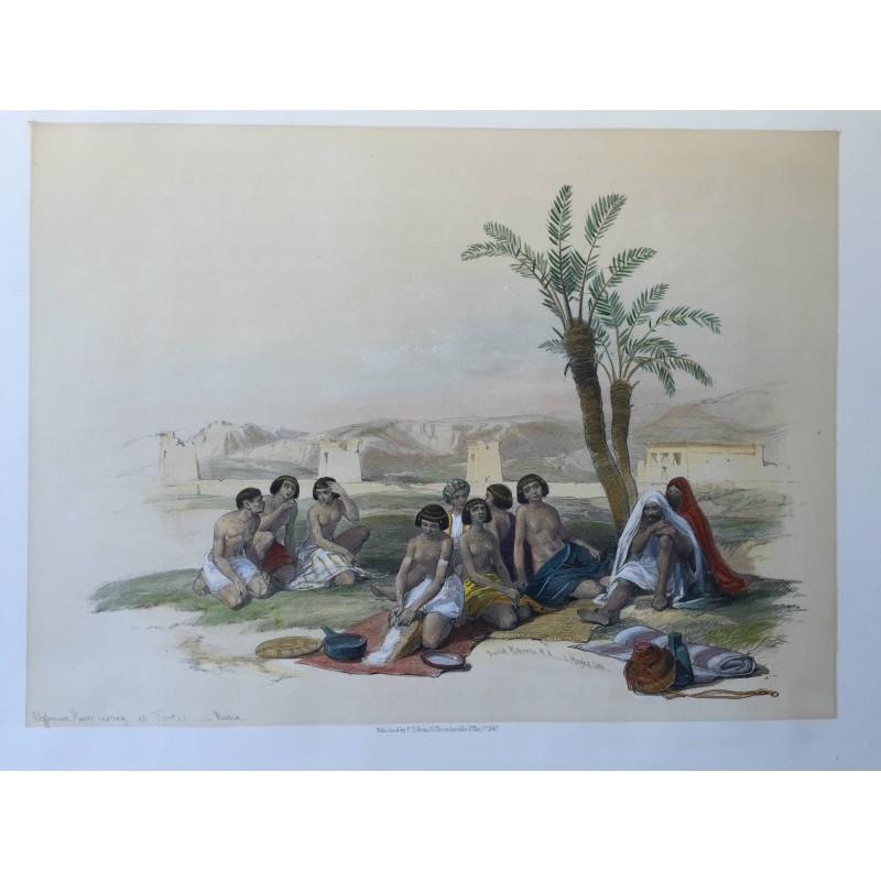 David ROBERTS, Lithographie Originale, Nubie, Egypte, Syrie