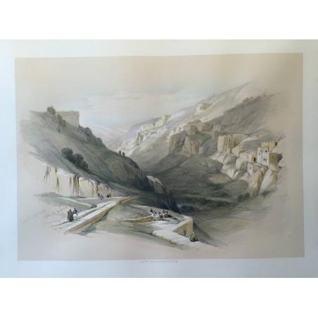 David ROBERTS, Lithographie Originale, Nubie, Egypte, Syrie