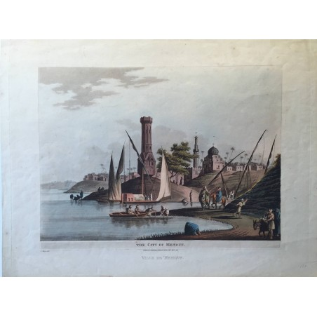 The city of Menouf, Luigi MAYER, 1802