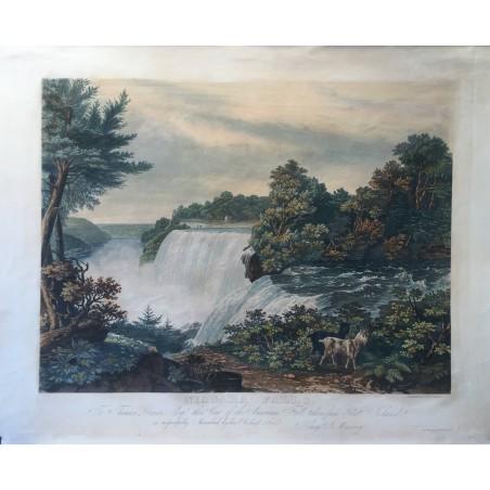 NIAGARA FALLS, W. J BENNETT (1787-1844)