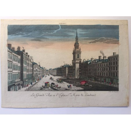 Londres, Grande rue et église sainte marie