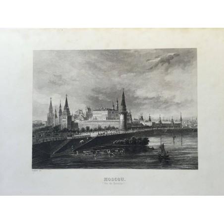 MOSCOU, vue du Kremlin, Rouargue, 1850