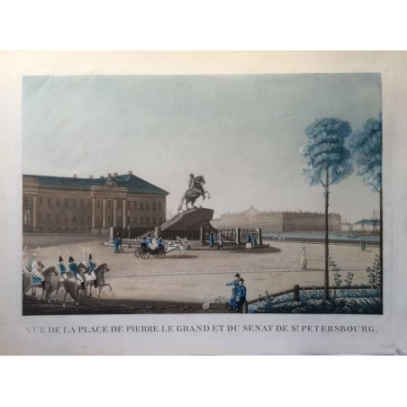 Vue de la Place Pierre le Grand, et du Sénat de St Petersbourg