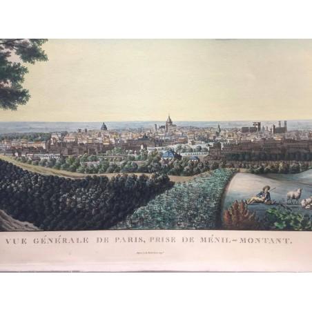 Vue générale de Paris, prise de Ménil-Montant,