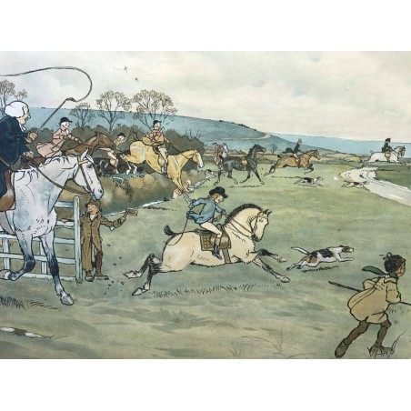In the open, Cecil Aldin, 1900