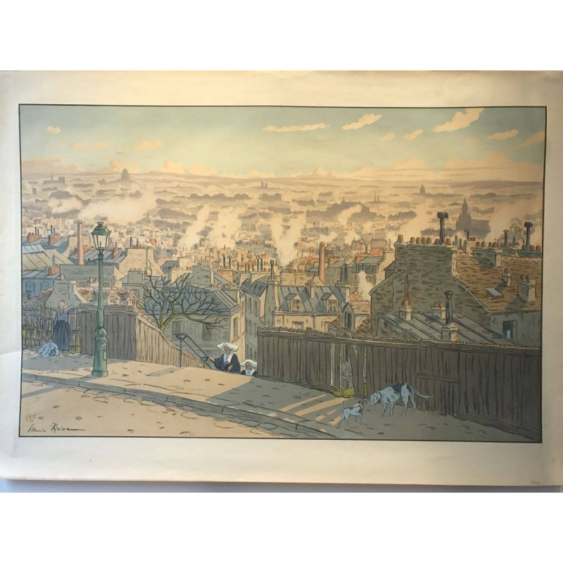 Paris vu de Montmartre, les paysages Parisiens, Henri Rivière