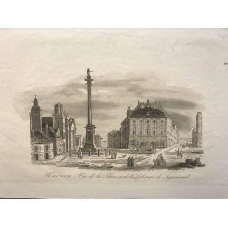 Warsovie, Vue de la place et de la colonne de Sigismond