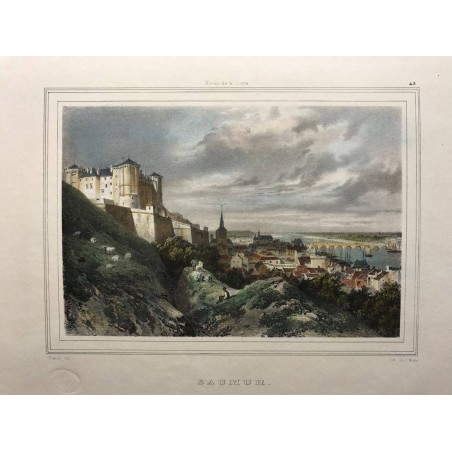 Rives de la Loire, Saumur, Deroy 1845
