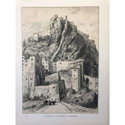 Robida, Le piton de la citadelle à Sisteron