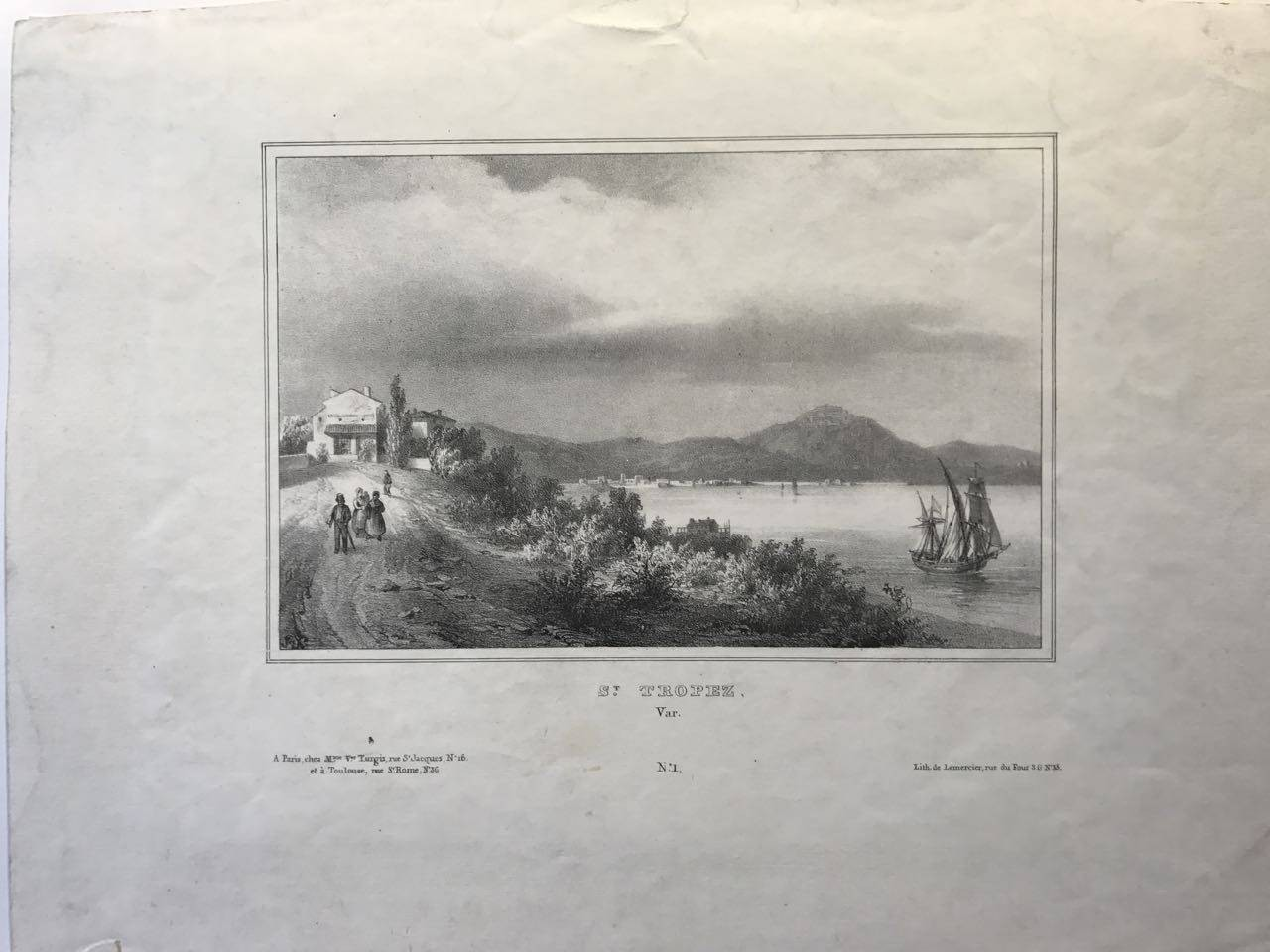 Saint Tropez, Var,1840