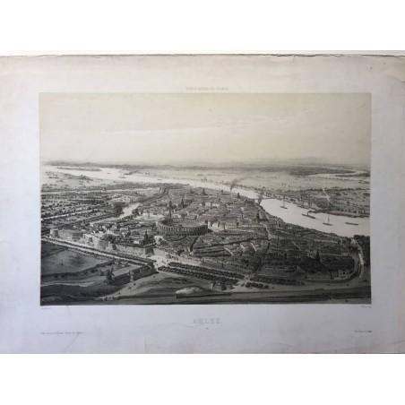 Voyages Aeriens en France, Arles, Guesdon, 1850