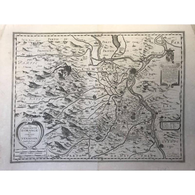 La principauté d'Orange et le comtat Venaissin, Hondius 1627
