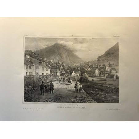 Gèdre, route de Gavarni, Jacottet, 1840