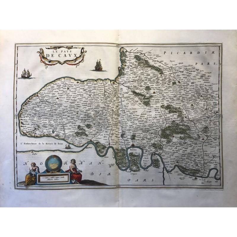 Normandie, pays de Caux, Blaew 1650